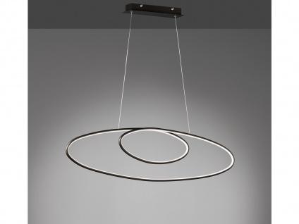 Große LED Pendellampe für Esstisch, Ringleuchte Wohnzimmerlampe über Couchtisch