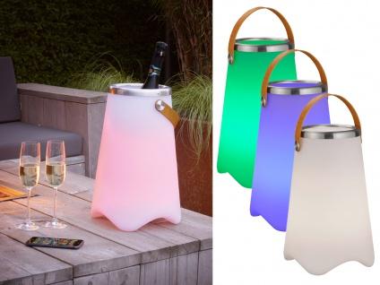 LED Tischlampe mit Farbwechsellicht Bluetooth Lautsprecher Musik Sektkühler 38cm