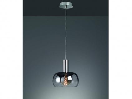 Dimmbare LED Pendelleuchte einflammig Rauchglas Schirm Kugel - Esszimmerleuchte