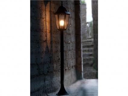 Wegeleuchte klassisch schwarz, Gartenlaterne Außenlampe für Außenbeleuchtung