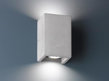 Up & Down Wandlampe eckig aus BETON 15x10cm, cooles Flurlicht im Industrie Style