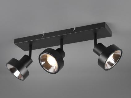 RETRO Deckenstrahler 3-flammig Schwarz Beleuchtung Flur, Diele und Treppenhaus