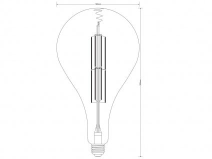 Filament LED Leuchtmittel Tropfen E27 Sockel dimmbar 8Watt 260 Lumen rauchfarbig - Vorschau 3