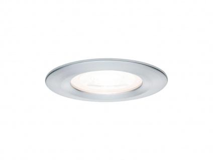 GU10 LED Einbaustrahler Decke Spot rund 68mm Alu gedreht 6, 5W - IP44 fürs Bad