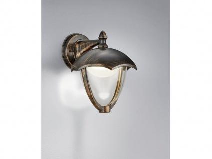 LED Außenwandlampe 2er Set Außenlaterne Rostoptik Terrassenbeleuchtung Landhaus - Vorschau 4