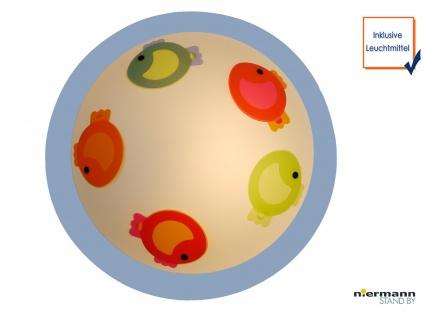 LED Deckenleuchte dimmbar rund Ø45cm KLEINE FISCHE Deckenschale Kinderzimmer
