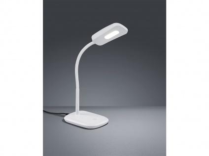 Moderne LED Schreibtischleuchte flexibel in Weiß, 36cm hoch mit Touch Dimmer