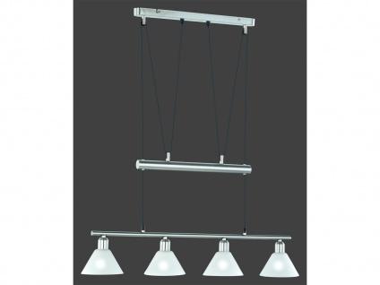 Trio Jojo-Balkenpendel-Leuchte, E14, L.: 80cm, Nickel matt, Glas matt