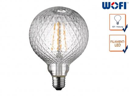 FILAMENT LED Leuchtmittel Glas mit Struktur 4 Watt, 300 Lumen, 1800 Kelvin, E27