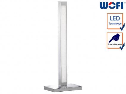 LED Tischleuchte mit 3-Stufen Dimmer Chrom H. 44cm Wohnraumleuchten Lampen