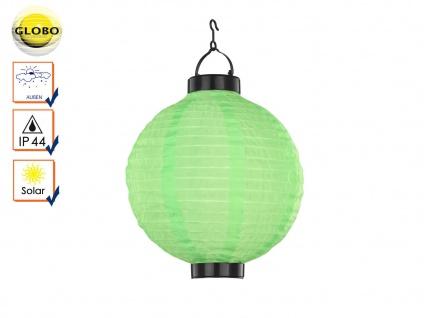 LED Solarleuchte Lampion grün Ø25, 5cm, Gartenlampe Terrassenbeleuchtung Balkon