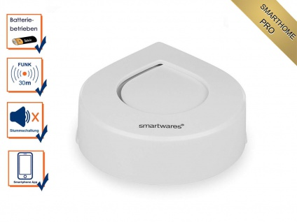 Funk Wassermelder mit Alarm per APP aufs Smartphone Handy - SmartHome PRO Serie