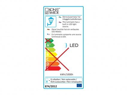 2er-Set Wandleuchten MASSA anthrazit, 8 Watt HP-LED, 800 Lumen, IP54 - Vorschau 4