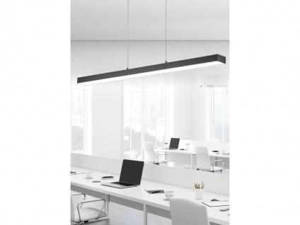 Extra lange LED Balken Pendelleuchten Bürolampe hängend Touch Dimmer in schwarz