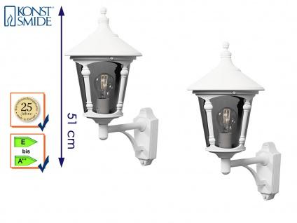 2er Set Konstsmide Außenwandleuchte VIRGO weiß, Laterne Leuchte Hauswand E27 - Vorschau 1