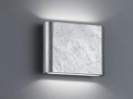 LED Außenwandlampe mit UP and DOWN Zinkoptik Breite 11, 5cm - Hausbeleuchtung