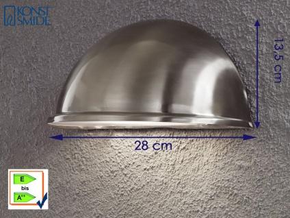 Konstsmide Wandleuchte Edelstahl Downlight TORINO, Beleuchtung außen Terrasse - Vorschau 1