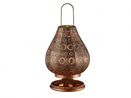Tischlampe Tischleuchte JASMIN altmessing mit Schalter, E14, 36cm, Ø 19cm - Vorschau 2