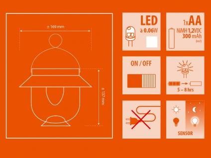 2er-Set Solarlaternen MAGRET Solarleuchte Solarlampe mit Dämmerungssensor - Vorschau 5