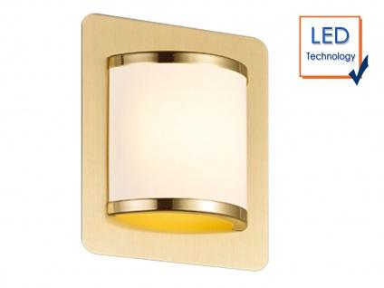 Elegantes Wandleuchten 2er Set mit Schalter & LED Messing matt/weiß Innenlampen - Vorschau 3
