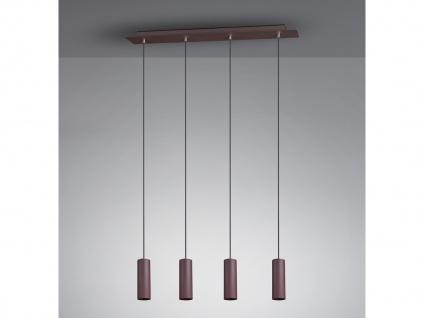 4 flammige Rost Innenlampe - Pendel für Wohnraum, Esszimmer mit 5 dimmbaren LEDs