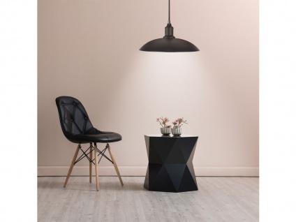 Hängelampe 32cm Industrie Look mit Filament LED, Metall schwarz bronze, Pendel - Vorschau 3