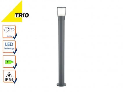Trio LED Wegeleuchte Pollerleuchte SHANNON anthrazit, Außenlampe Gartenlaterne