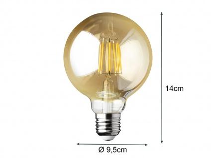 Filament LED dimmbar E27 Leuchtmittel Glühlampe Goldfarbig tranpsarent 6W 680lm - Vorschau 4