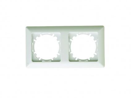 2-fach Rahmen/Schalterblende aus Kunststoff, in Cremeweiß, GAO - Vorschau 2