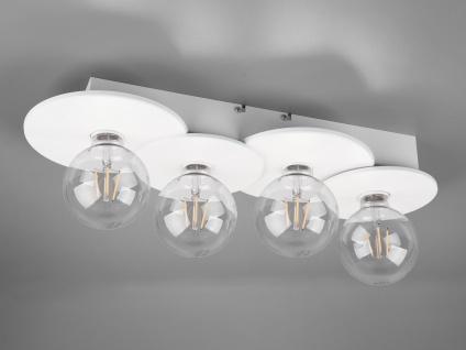 Retro Style Deckenleuchte in Weiß matt Küchenlampe Wohnzimmerlampen Flurleuchten