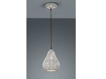 LED Pendelleuchte Orientalisch Marrakesch Marokko Design für Esstisch grau antik