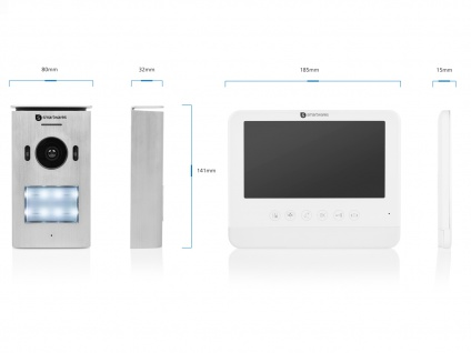 Set: 2 Familienhaus Video Gegensprechanlage mit Kamera + 7 Zoll LCD + Türöffner - Vorschau 3