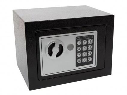 Kleintresor mit Elektronikschloss & Schlüssel - Safe & Wertschrank für Zuhause