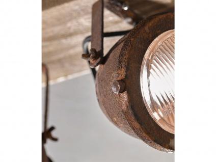 2 flammiger LED Deckenstrahler dimmbar mit Holzbrett rostfarben Industrial Style - Vorschau 5