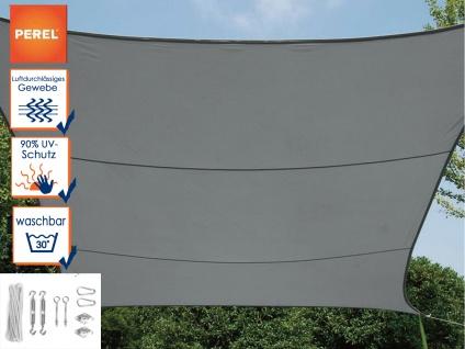 Sonnensegel Viereck Dunkelgrau 3, 6m mit Ösenset für Terrasse / Balkon