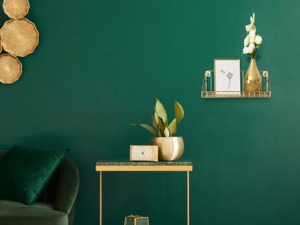 Kleines Wandregal mit Gitterdesign Metall Gold - cooles Schweberegal 30cm breit