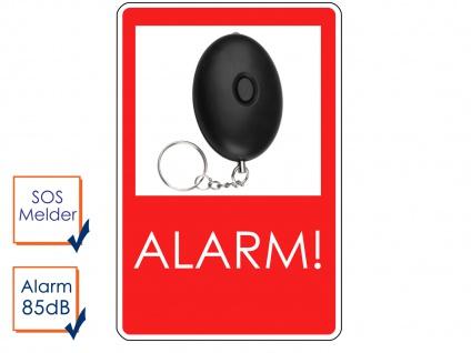 Mini Taschenalarm Überfallalarm Notruf Personen-Alarm 85dB