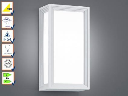 LED-Außenwandleuchte / Wandlampe TIMOK, IP54, weiß, Trio