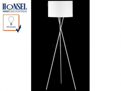 Moderne Design Stehlampe mit Lampenschirm 54cm Stoff weiß Stehleuchte Standlampe