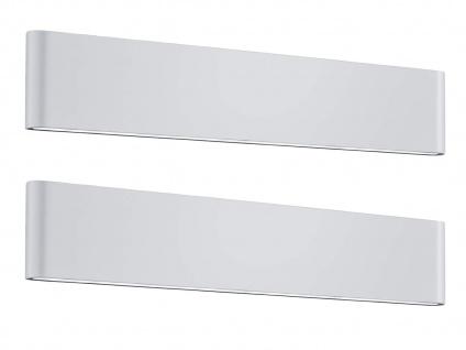 LED Außenwandleuchten SET Up and Down in weiß - 2 Außenwandlampen für Hauswand