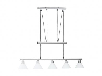 Trio Jojo-Balkenpendel, E14, L.: 102cm, Nickel matt, Glas opal weiß