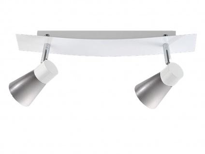 2flammiger Wandstrahler mit Schalter, Wandleuchte Wandspot Lampenschirme Metall