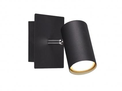 Wandlampe Marley mit einem schwenkbarem Spot & GU10 Sockel, schwarz matt, Metall