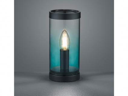 Moderne LED Glas Tischleuchte Zylinder LED Tischlampe Nachttischlampe türkis