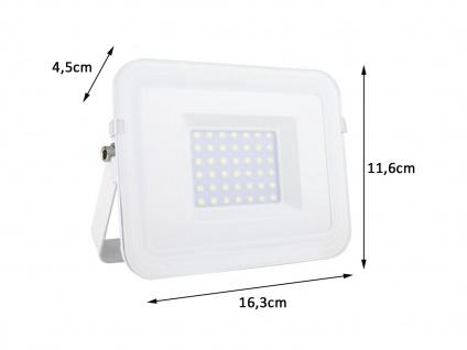 LED Flutlichtstrahler 30 Watt & 2700 Lumen in Weiß IP65, Hoflichtbeleuchtung