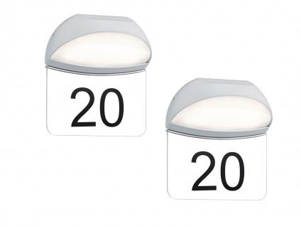 LED Hausnummernleuchten 2er SET MUGA für draußen aus Aluminium in Weiß, IP54, 5W