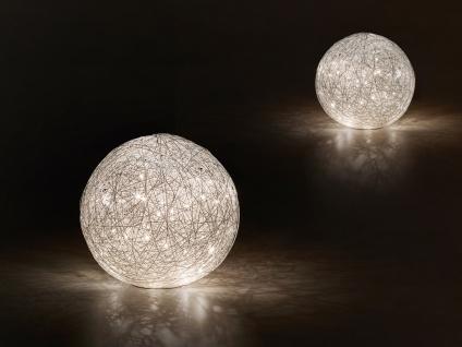DESIGN LED Nachttischleuchte Set Kugel Lampenschirm Geflecht Optik Ø 20 + 30cm