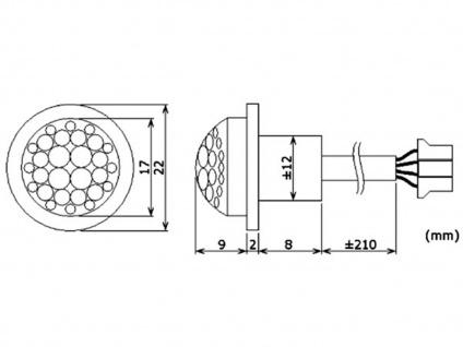 2er Set Mini PIR-Bewegungssensor, 100°/8m, weiß, Bewegungsmelder PIR Sensor - Vorschau 5