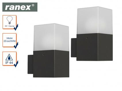 2er Set LED-Außenwandleuchte Aluminium/Kunststoff 7W IP44 Fassadenbeleuchtung