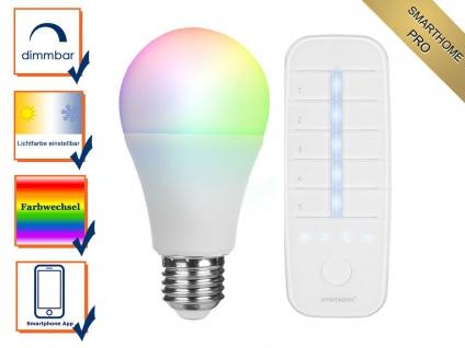 SmartHome PRO Vorteils Set: Dimmbares RGB Leuchtmittel mit Zusatz Fernbedienung